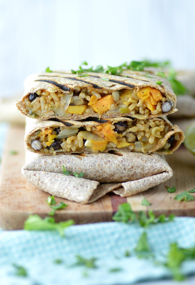 Sweet Potato Black Bean Burritos