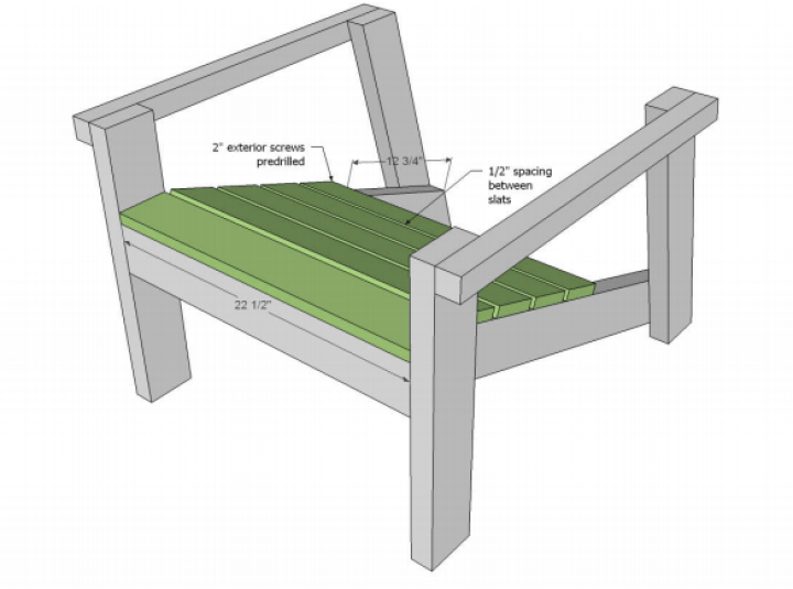 Adirondack chair plans for base