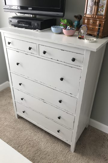 whole view of reinvented IKEA dresser