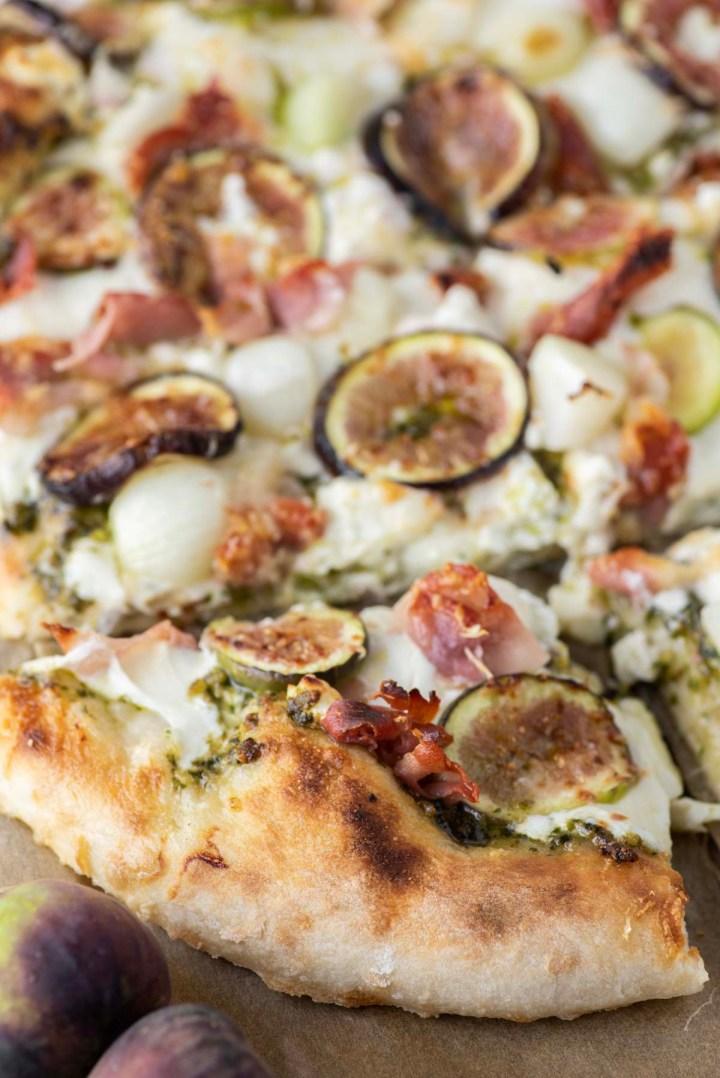 slice of fig prosciutto pizza