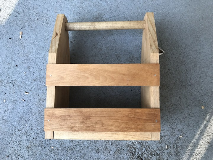 glue and nail sides to beer caddy