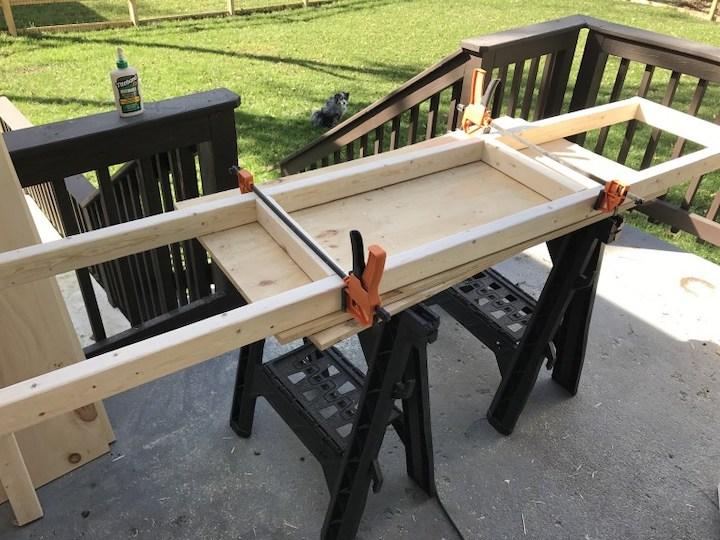 building wood frames for entertainment center