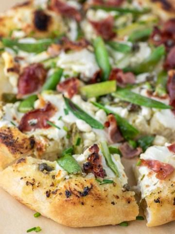 sliced spring pizza