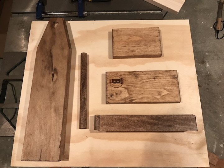 wood for wine caddy stained