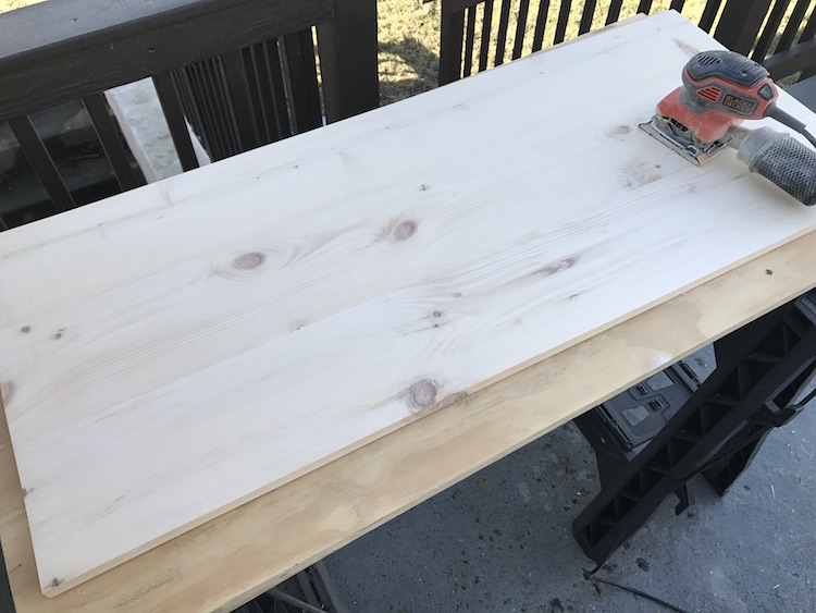 shelve being glued and screwed together for kitchen island plan