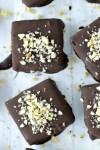 overhead shot of chocolate hazelnut bars