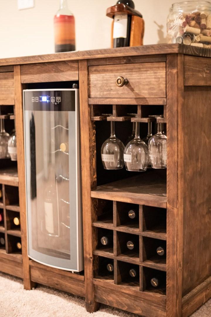 side shot of cabinet