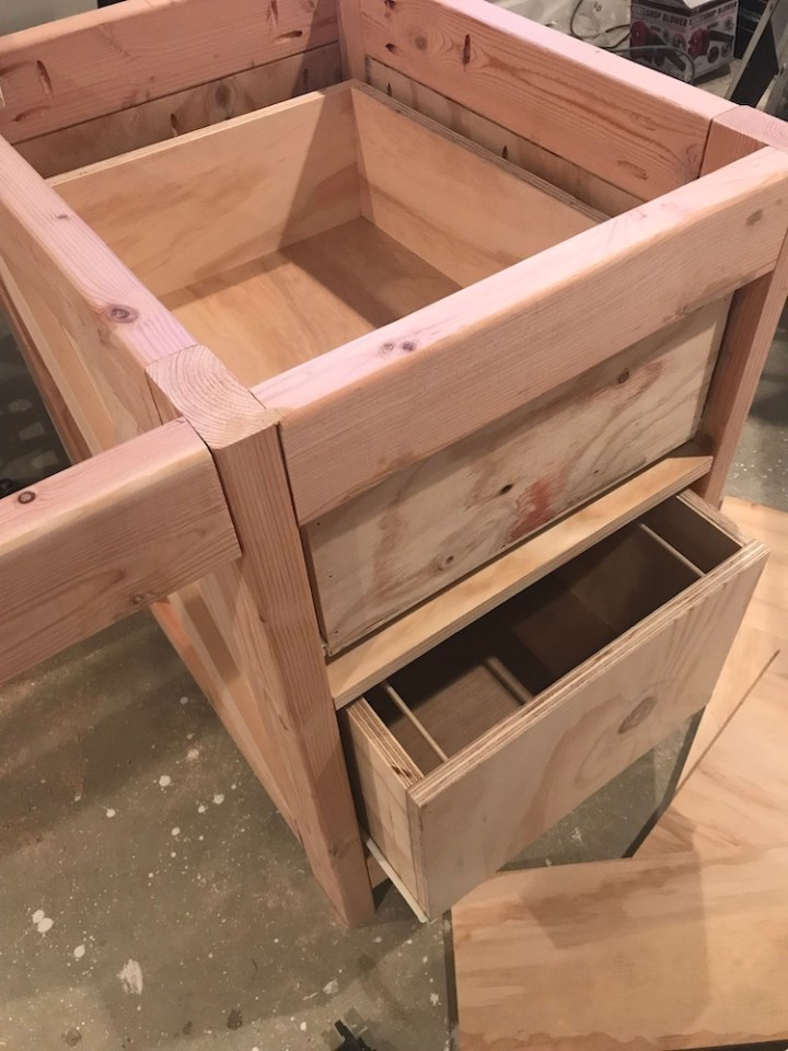 installing drawer slides to see if drawers fit