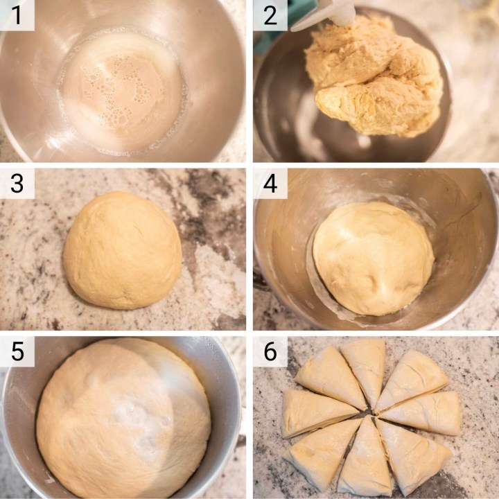 process shots of how to make homemade bagels