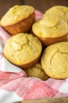 cornbread muffins in bread basket