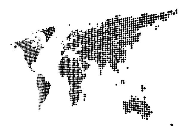 ネットワークの世界地図