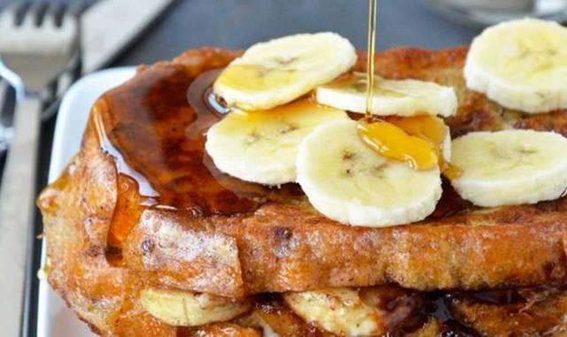 tostada banana y nutella