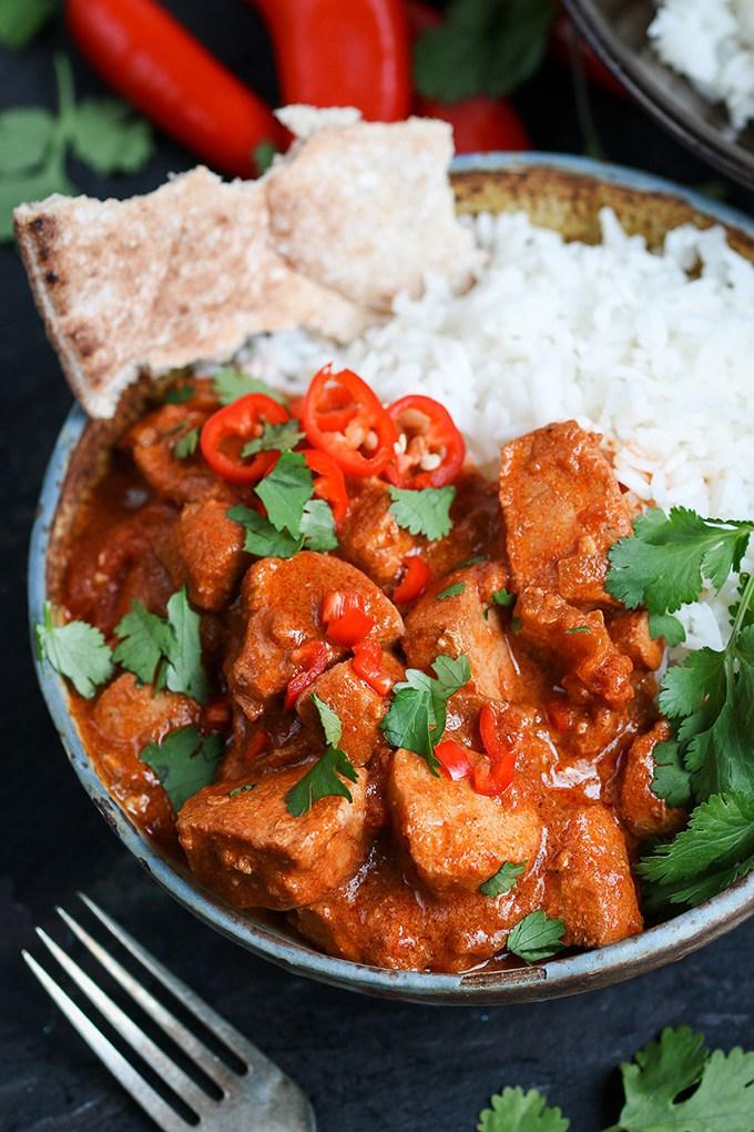 pollo al curry picante