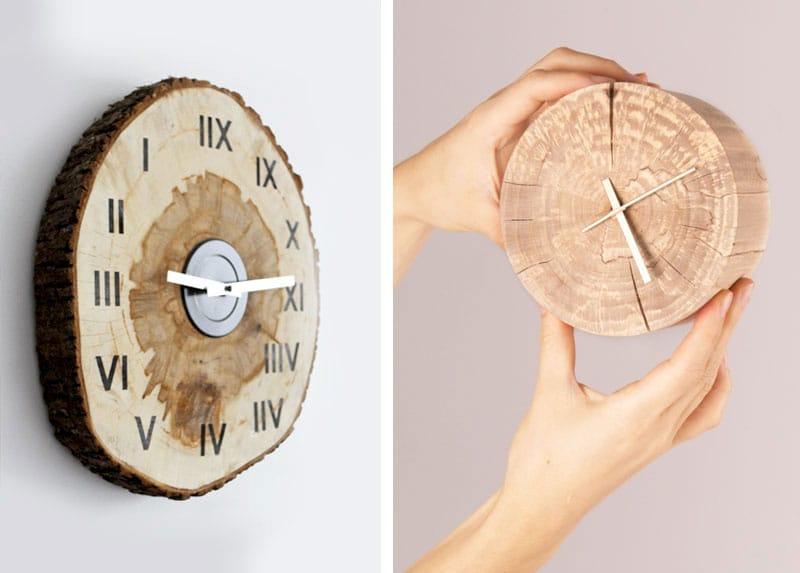 Arredare-casa-con-ceppi-di-legno-Orologio