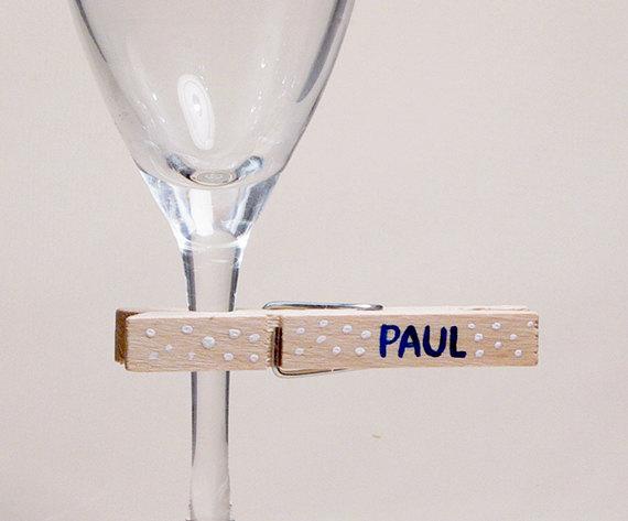 Riciclo-mollette-Segnaposto-per-bicchiere