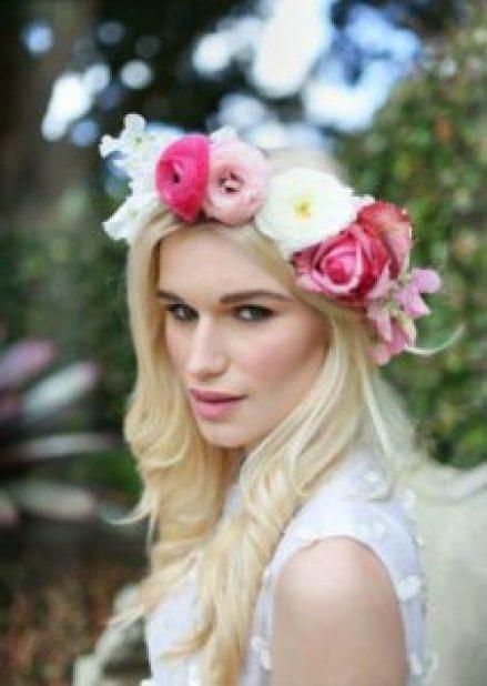 peinados con flores primavera
