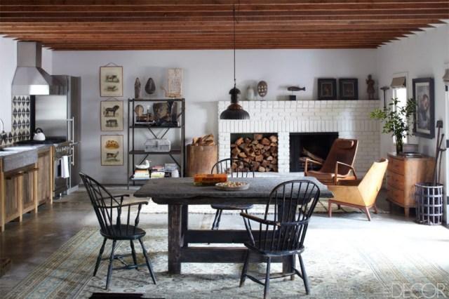 cocina-rustica-chic-con-techo-de-madera