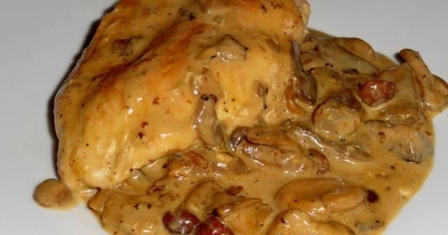 pollo con crema