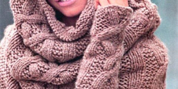 bufanda y cubre-brazos