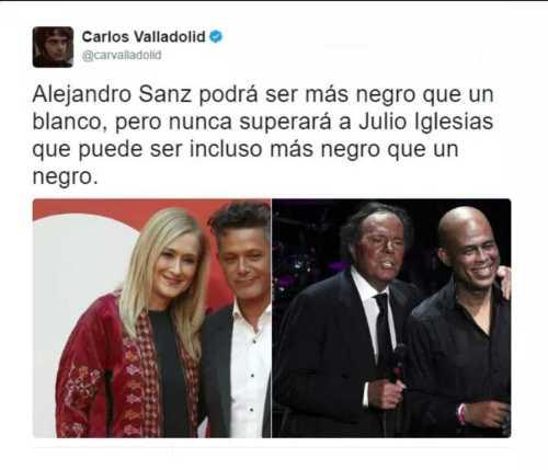 Julio Iglesias, muy negro