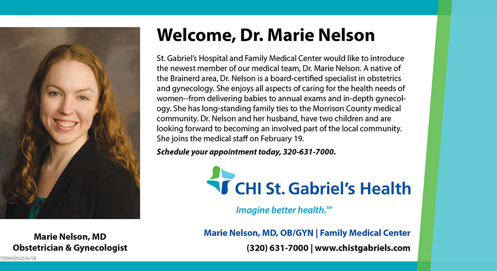 Women throughout Morrison County will have an increased access to specialized healthcare, thanks to a full time obstetrician and gynecologist (OB-GYN) joining the medical staff of Family Medical Center and CHI St. Gabriel's Health in Little Falls later this month.