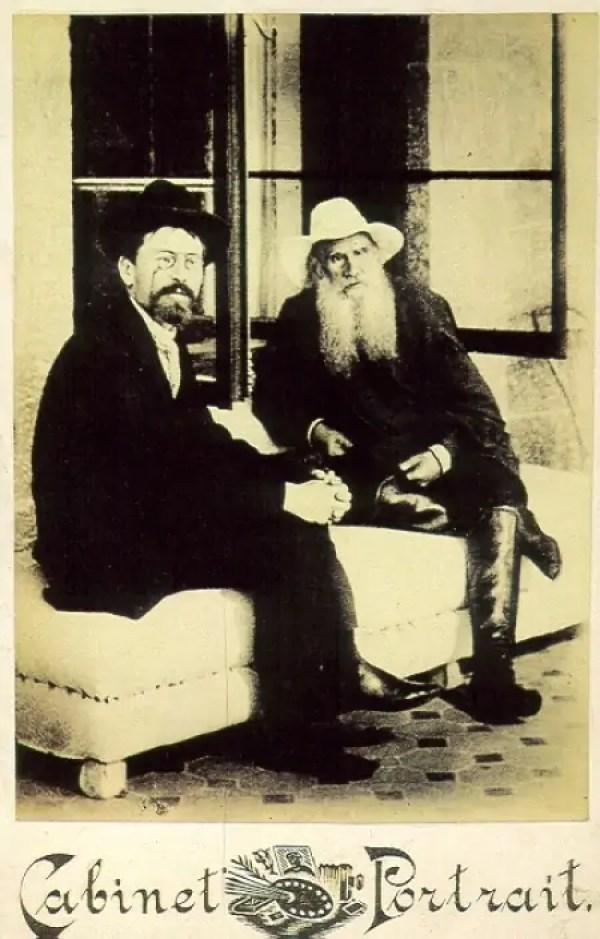 А.П.Чехов и Л.Н.Толстой, 12 сентября 1901 года.