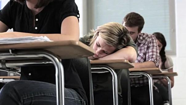 sleepy schoolgirl