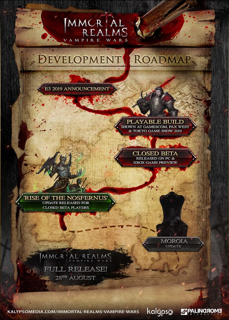 Immortal Realms: Vampire Wars roadmap