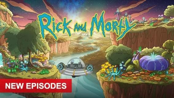 Rick and Morty keyart
