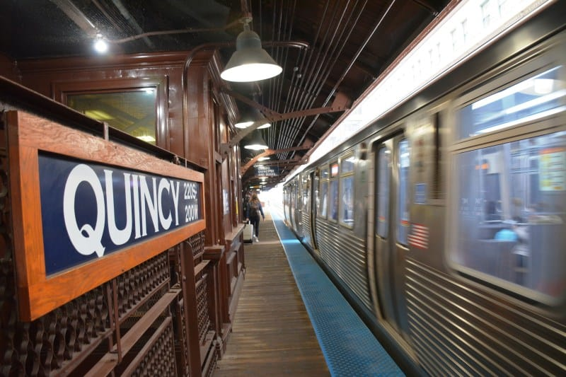 The beautiful and historic Quincy station is now wheelchair accessible