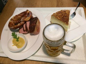A layover in Munich isn't complete without breakfast and German beer!