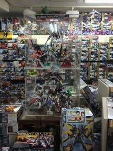 Gundam models in Akihabara