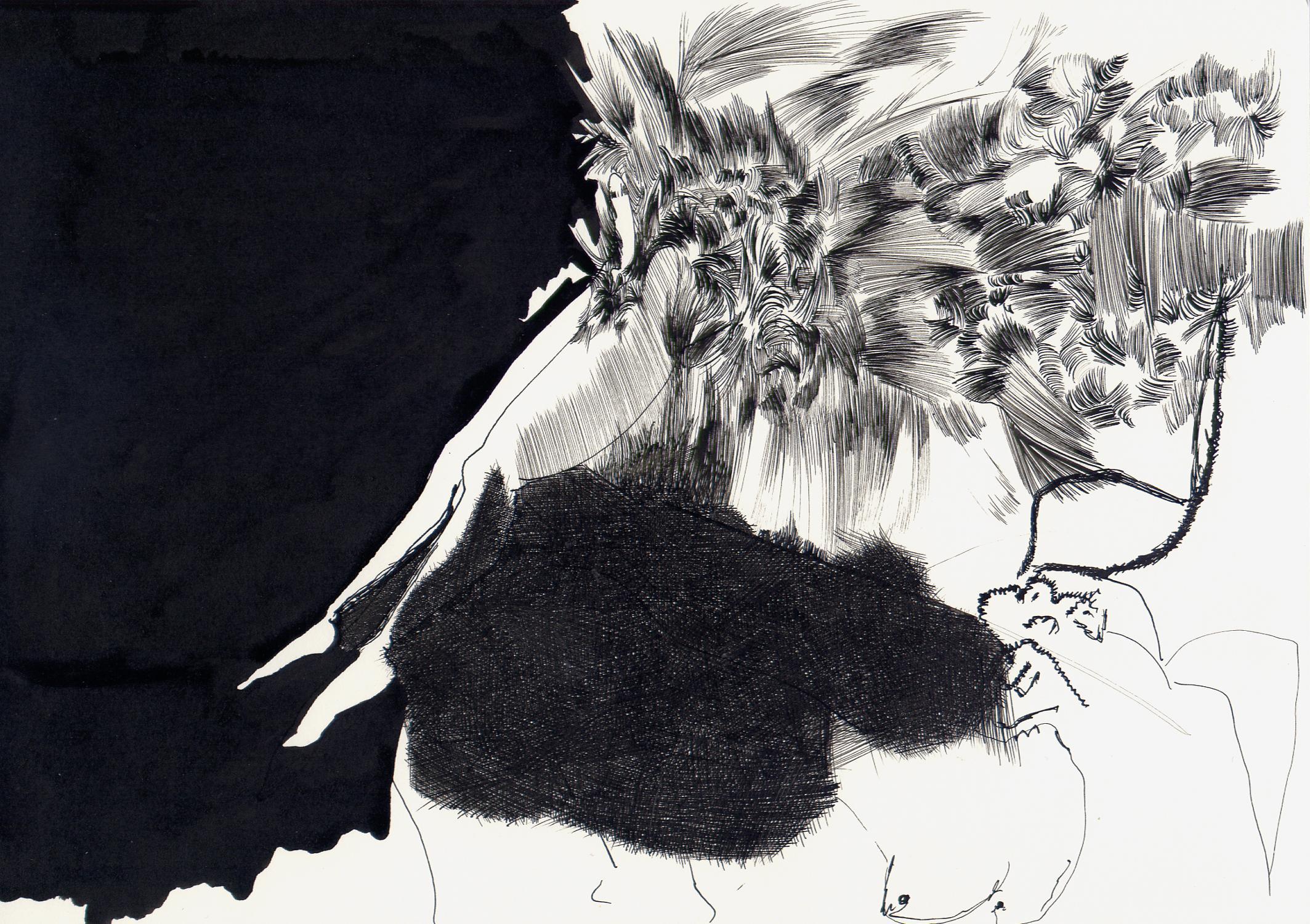 Der Nackte Mann Drawing Zeichnung