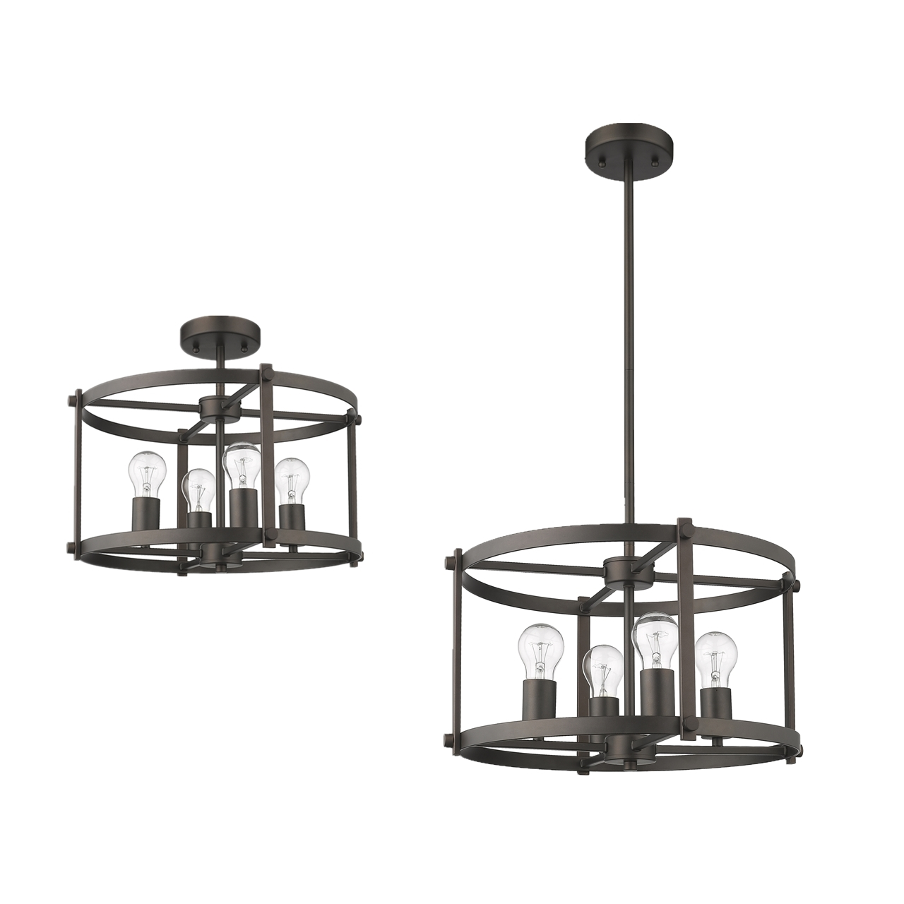 Chloe Lighting Inc Ch2h119rb18 Up4 Inverted Pendant