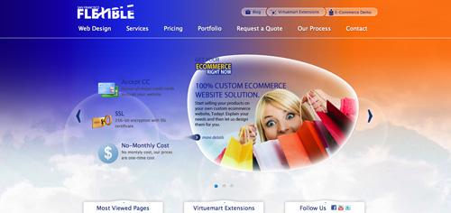 flexible web tasarım firması arayüzü