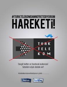 #turktelekomdannefretediyorum hareketi!