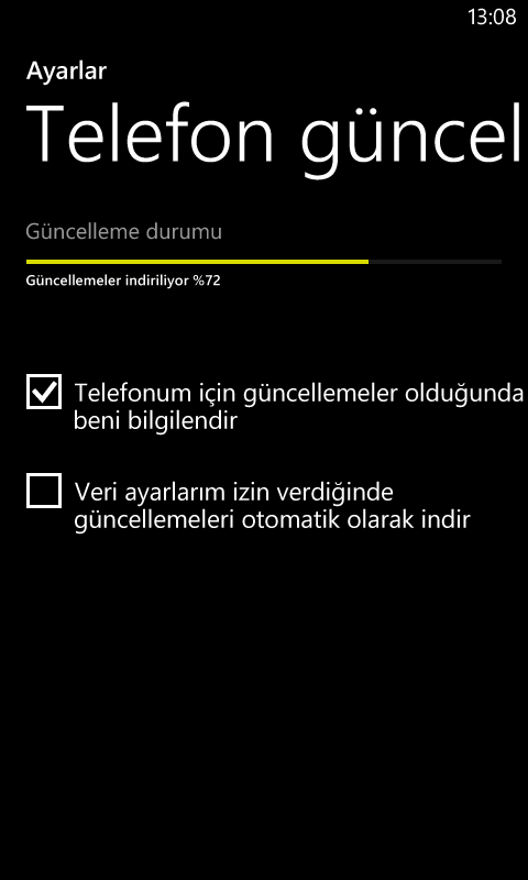 Windows Phone 8 Güncellemesi