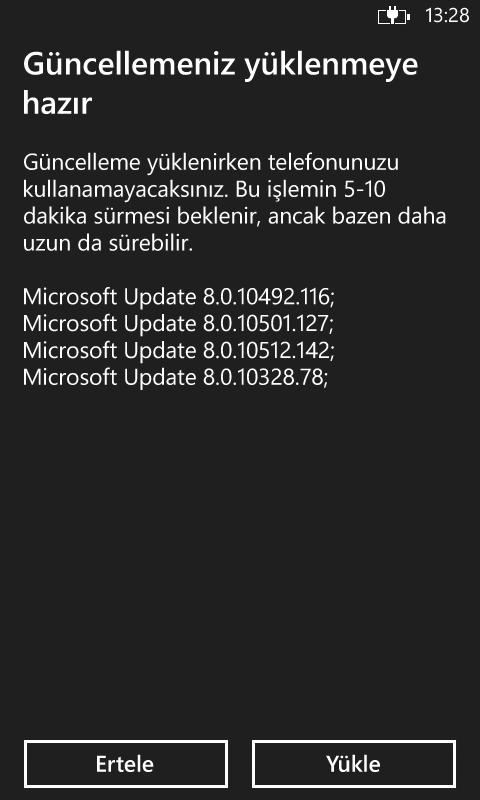 Windows Phone 8 gdr3 güncellemesi