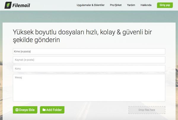 filemail - Ücretsiz Büyük Boyutlu Dosya Gönderme Siteleri