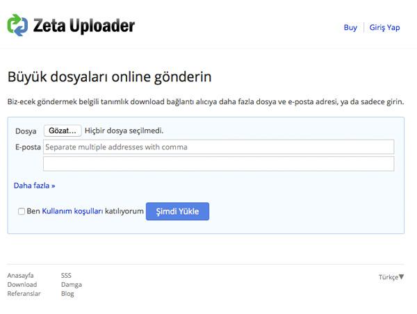 zetauploader - Ücretsiz Büyük Boyutlu Dosya Gönderme Siteleri