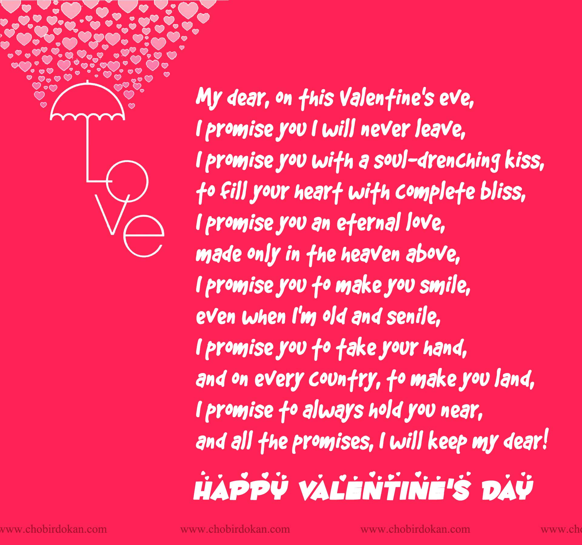 Happy Valentines Day Poems For Her For Your Girlfriend Or