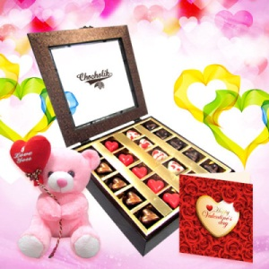 Choco Expression with Lovely Teddy