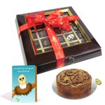 Dark-Choco-Fruit-Cake-Delight-with-Sorry-Card