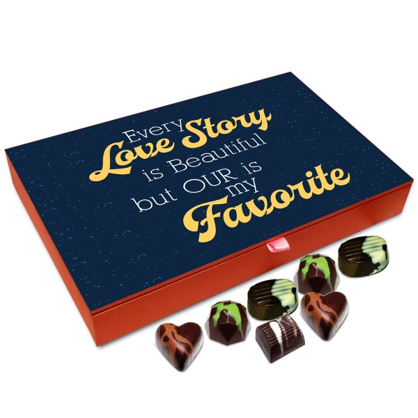 Chocholik Gift Box Every Love Story Is Beautiful Chocolate Box