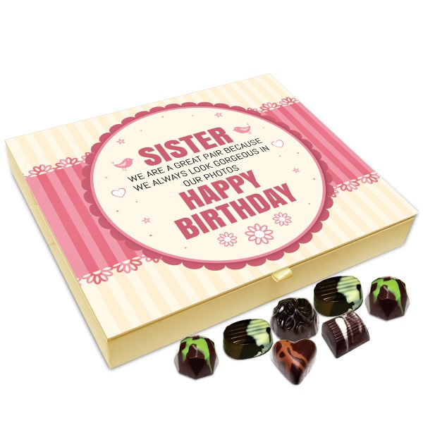 Chocholik Gift Box - Happy Birthday My Cute Little Sister Chocolate Box -  20pc