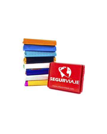 Chocolates personalizados, medallas de chocolate, artículos promocionales.
