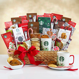 An Over the Top Starbucks Holiday Gift Basket