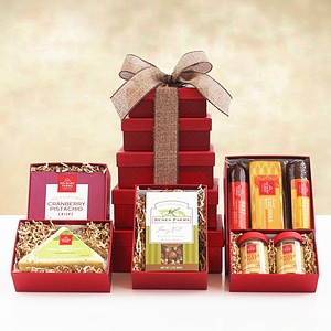 Towering Meat and Cheese Gifts