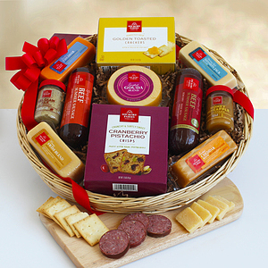 A Holidays Meat and Cheese Gift