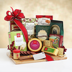 A Cutting Board with Holiday Season Snacks